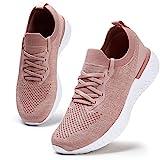 Damen Walkingschuhe Turnschuhe Laufschuhe Sportschuhe Fitness Sneakers Trainers für Running Outdoor Schuhe Pink 41 EU